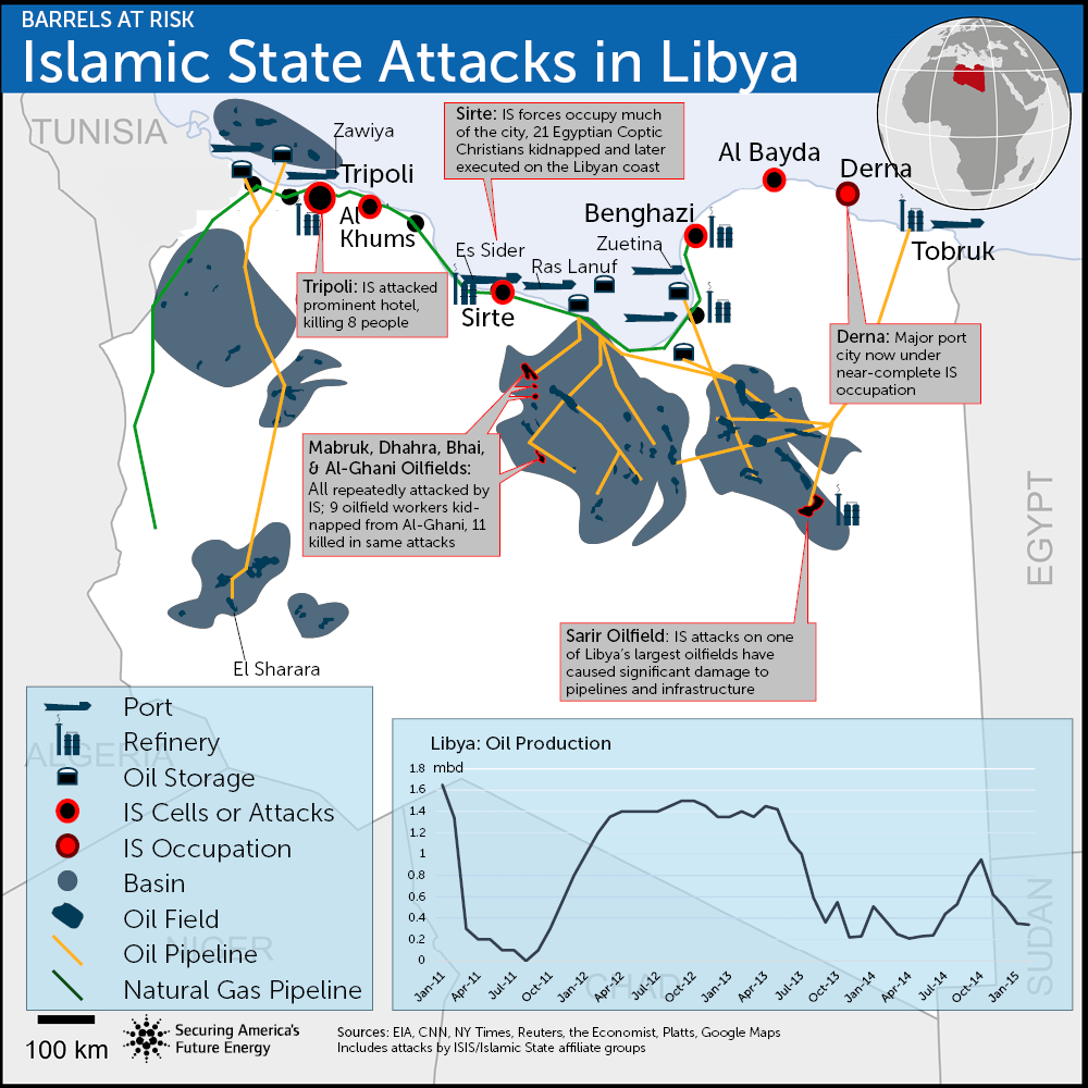ISIS in Libya map