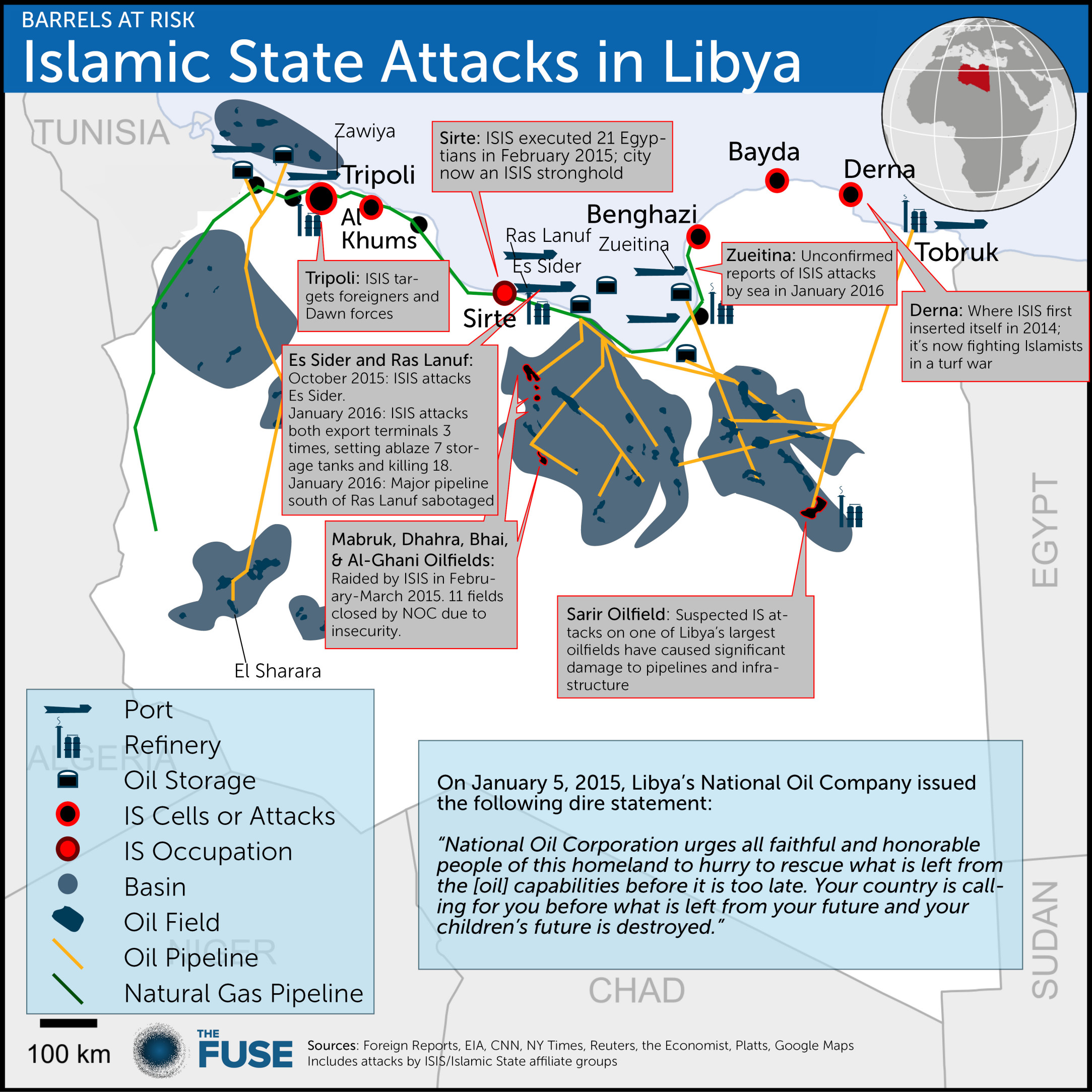 ISIS in Libya map Jan 2016
