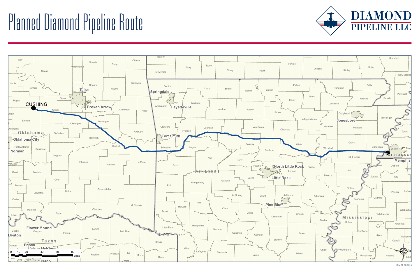 planned diamond pipeline route